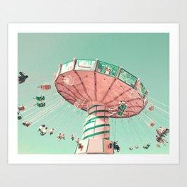 Swing chairs Art Print