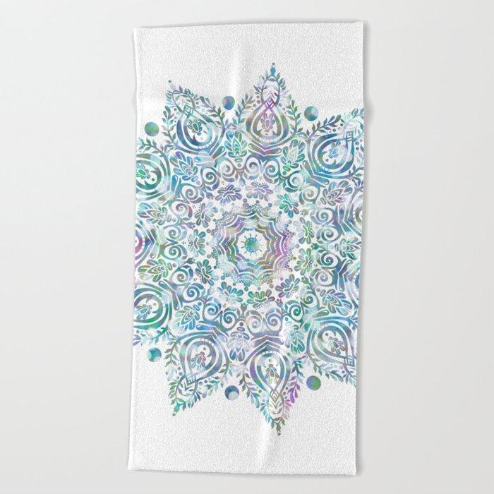 Mermaid dreams mandala on white beach towel by for How to keep white towels white