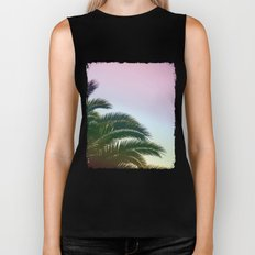 Palm Leaves  - Tropical Sky - Chilling Time Biker Tank