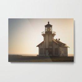 Dusk Lighthouse Metal Print
