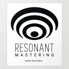 Resonant Mastering Logo Art Print