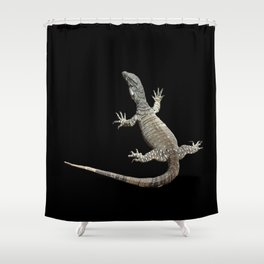 Lace Monitor Varanus varius Shower Curtain