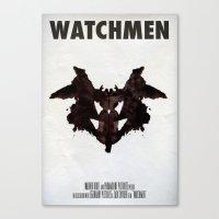 watchmen Canvas Prints featuring Watchmen - Rorschach  by Fabio Castro