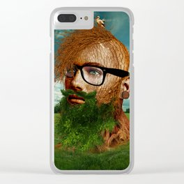 Eco Hipster Clear iPhone Case