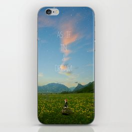Enamored of a love without promises iPhone Skin