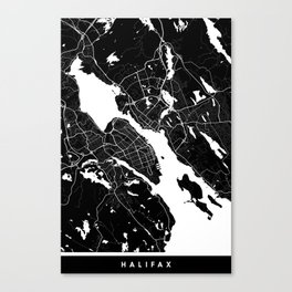 Halifax - Minimalist City Map Canvas Print