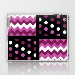 Black/Two-Tone Mulberry/White Chevron/Polkadot Laptop & iPad Skin