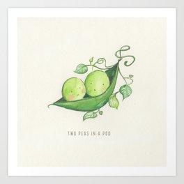 Two Peas in a Pod Art Print