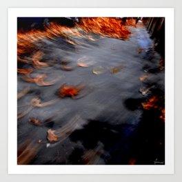 autumn, flies away Art Print