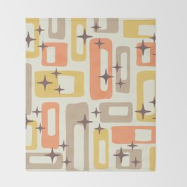 Mid Century Modern Geometric Abstract 133 Throw Blanket