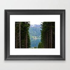 norwegian fjords Framed Art Print
