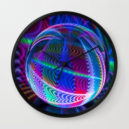 Colours in the round Wall Clock
