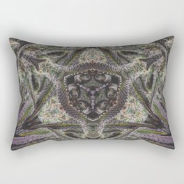 Purple Black Lime #2 Rectangular Pillow