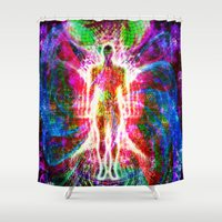 "matrix Shower Curtains featuring ""The matrix "" by shiva camille"