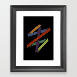 Folded Abstraction Framed Art Print