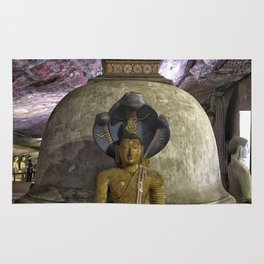 Temple within a cave Rug