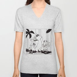 Adventures in the Jungle Unisex V-Neck