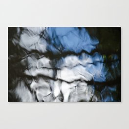Abstract water reflection Canvas Print