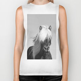 Portrait of a Horse in Scotish Highlands Biker Tank