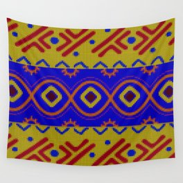 Ethnic African Knitted style design Wall Tapestry