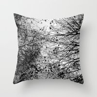 leaves Throw Pillows featuring Branches & Leaves by David Bastidas