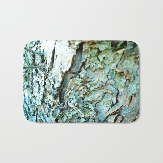 Tree Bark Color Bath Mat