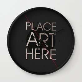 The Art Placeholder Wall Clock