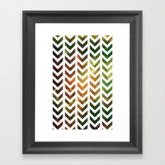 Nebula Chevrons Framed Art Print