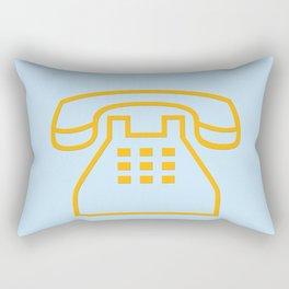 telephone symbol illustration Rectangular Pillow