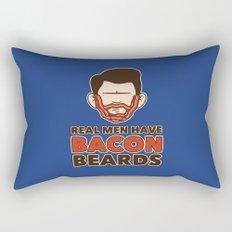 Bacon Beard (men's version) Rectangular Pillow