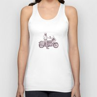 motorcycle Tank Tops featuring Motorcycle by Sky Letson