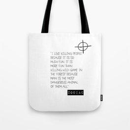 Zodiac Killer Tote Bag