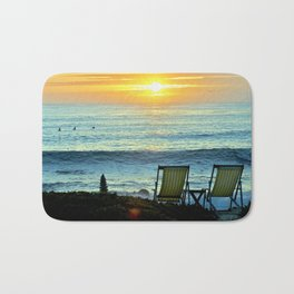 Modern Cambria CA Sunset Bath Mat