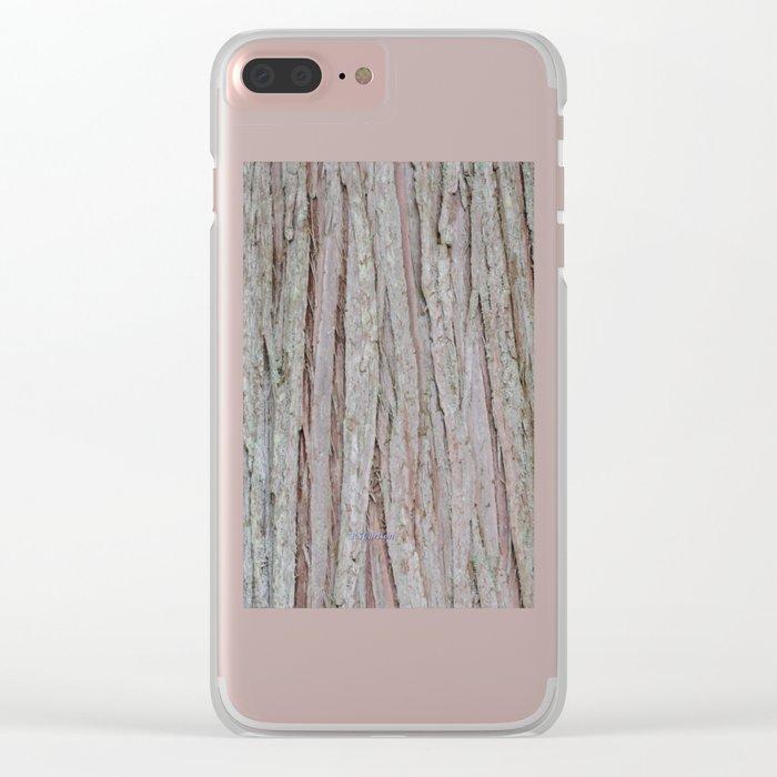 TEXTURES --  Cedar Bark Clear iPhone Case