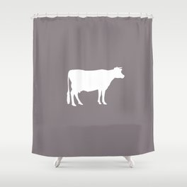 Cow: Purple Lavender Shower Curtain