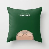 walter white Throw Pillows featuring Walter White by Mr. Peruca