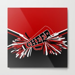 Dark Red Cheerleader Spirit Metal Print