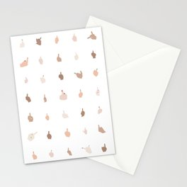 Middle Fingers With Colored Nails Stationery Cards