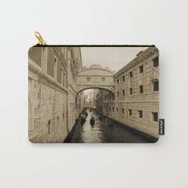 Bridge of Sighs, Venice, Italy, Sepia,  Carry-All Pouch