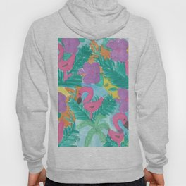 Tropical Flamingo Jungle Hoody