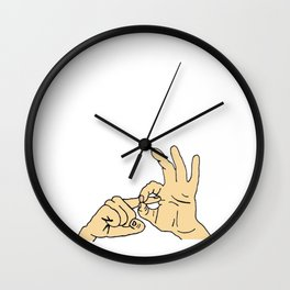 LOVE sign language Wall Clock