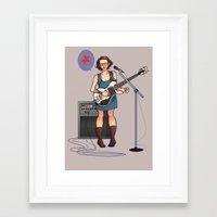 jenna kutcher Framed Art Prints featuring jenna by wakosahadewa