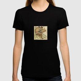 Hokusai – Hatakeyama Shigetada carrying his horse,  葛飾 北斎, Samurai,Genpei,Jidaigeki. T-shirt