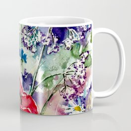 Spring Flowers Watercolour Coffee Mug
