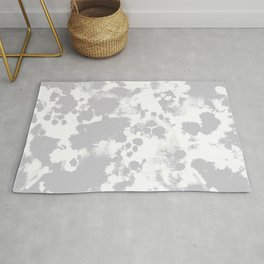 Grey - pattern painting gray and white minimal modern art large stretched canvas minimal decor Rug