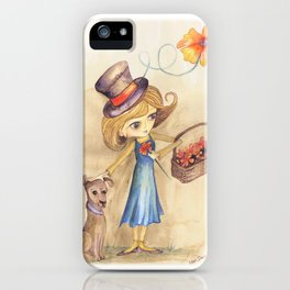 Flower Girl and her friend iPhone Case
