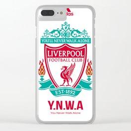Liverpool Flat Design Clear iPhone Case