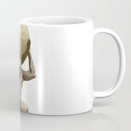 Man with Big Ball Illustration white Coffee Mug