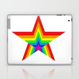 Bright Hypnotic Rainbow Pride Star Laptop & iPad Skin