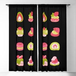 Strawberry Matcha Blackout Curtain